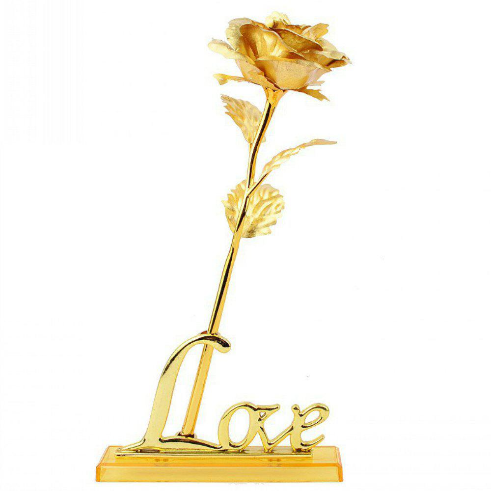 Annaversary Gifts for Her Wife Girlfriend Mother Personalized Unique Gifts Artificial Forever Love Rose with Bracket - GOLDEN