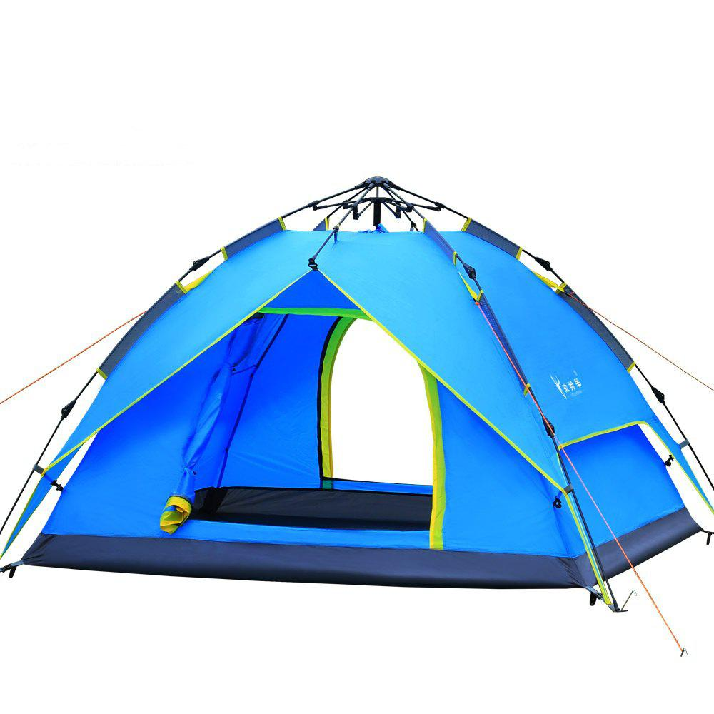 A Simple and Quick Outdoor Tent - BLUE