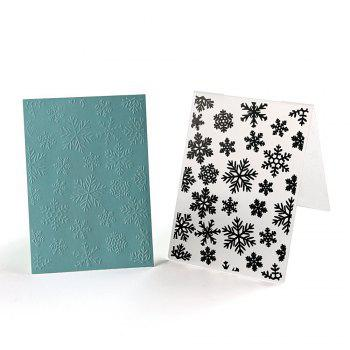 Plastic Embossing Folder Snow Christmas DIY Scrapbooking Photo Album Paper Craft Decoration Template Mold Card 2PCS - COLORMIX