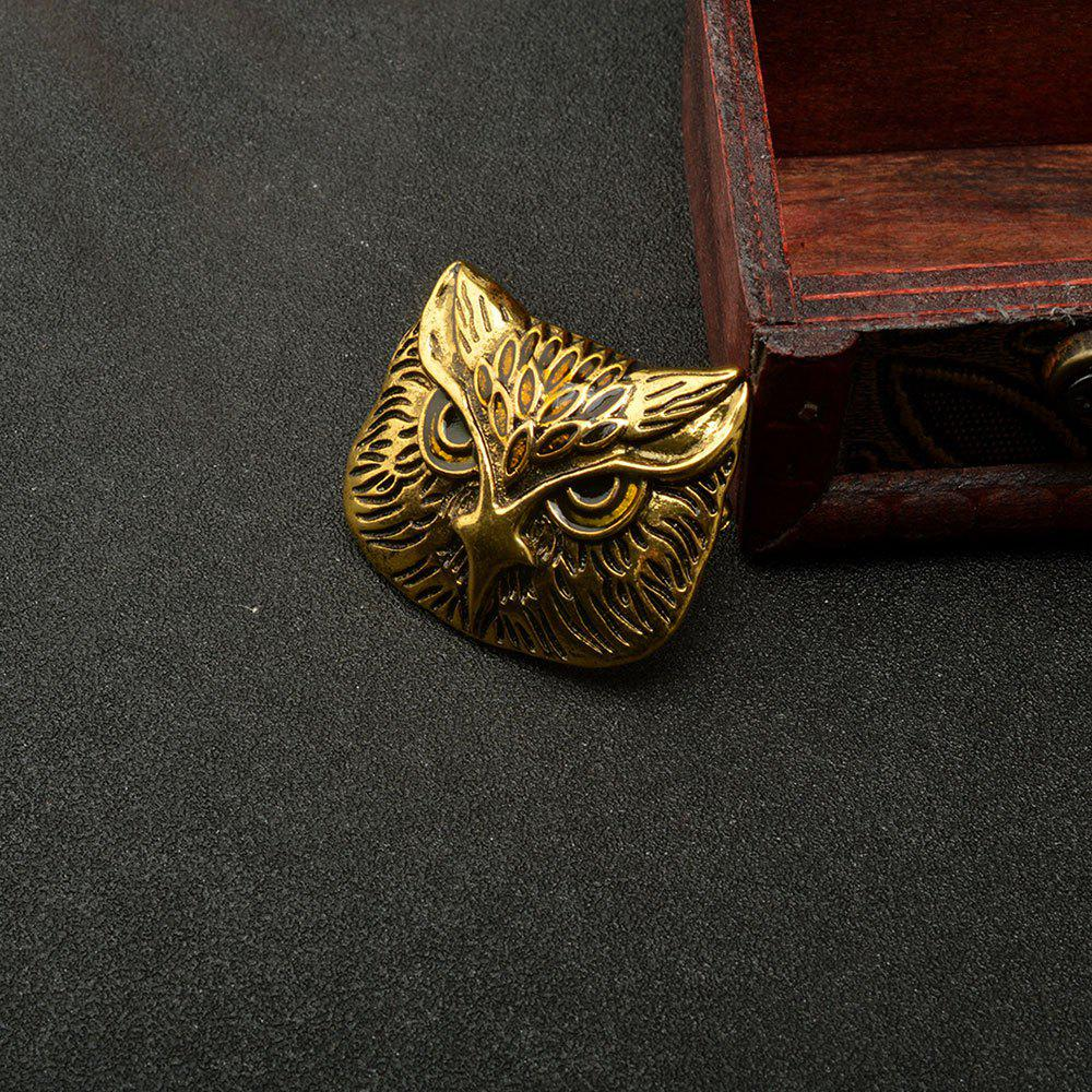Vintage Owl Brooch Corsage Scarf Clip Crystal Parrots Brooches Lapel Pin Broches Jewelry For Men - BRONZED
