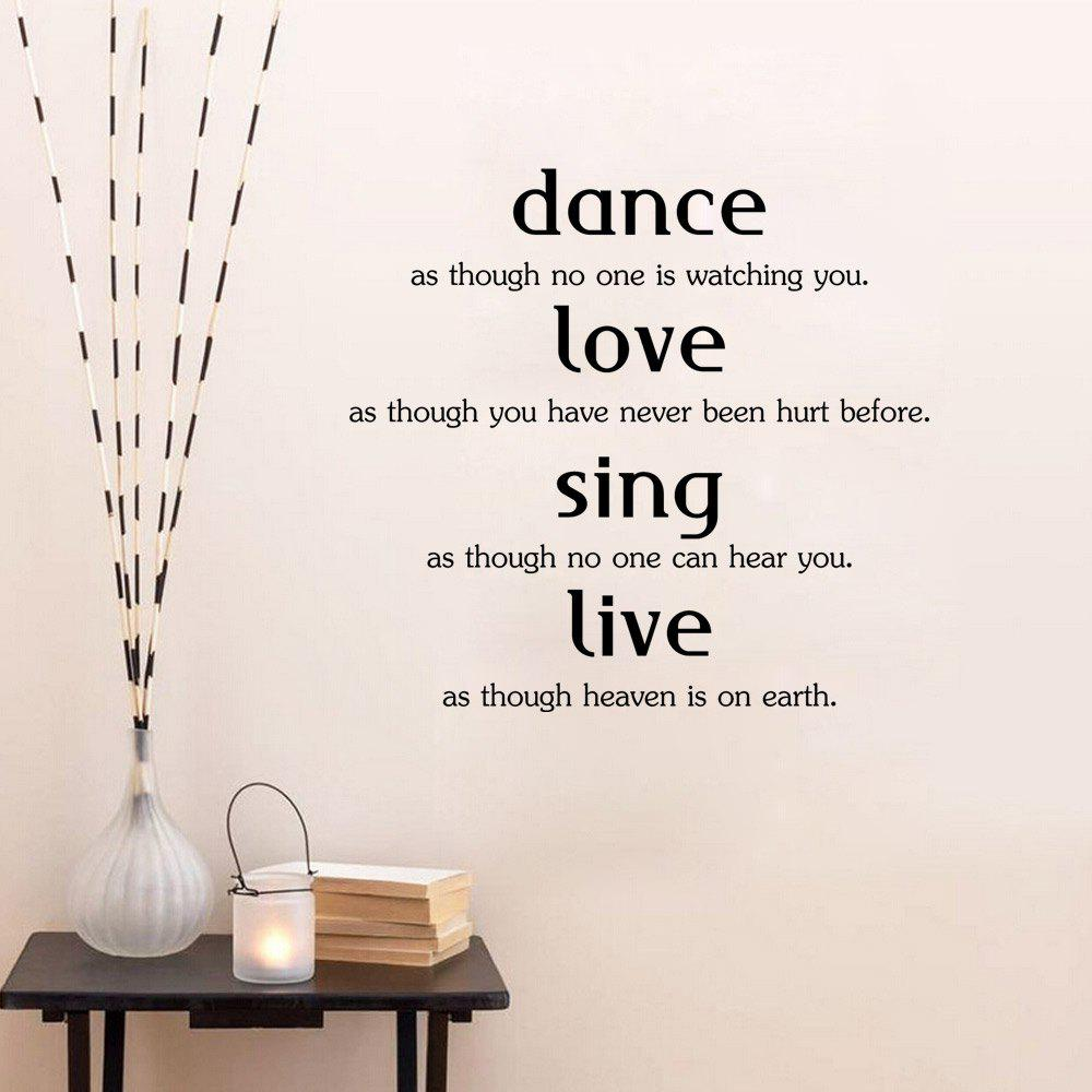 DSU Wall Sticker Dance Love Sing Live Art Quotes Bedroom Living Room Decal dsu details about happy girls wall sticker vinyl decal home room decor quote