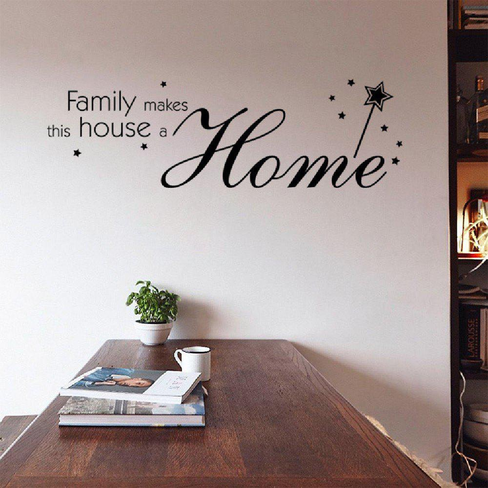 Dsu family makes this house a home wall art sticker living room dsu family makes this house a home wall art sticker living room bedroom decor black amipublicfo Gallery