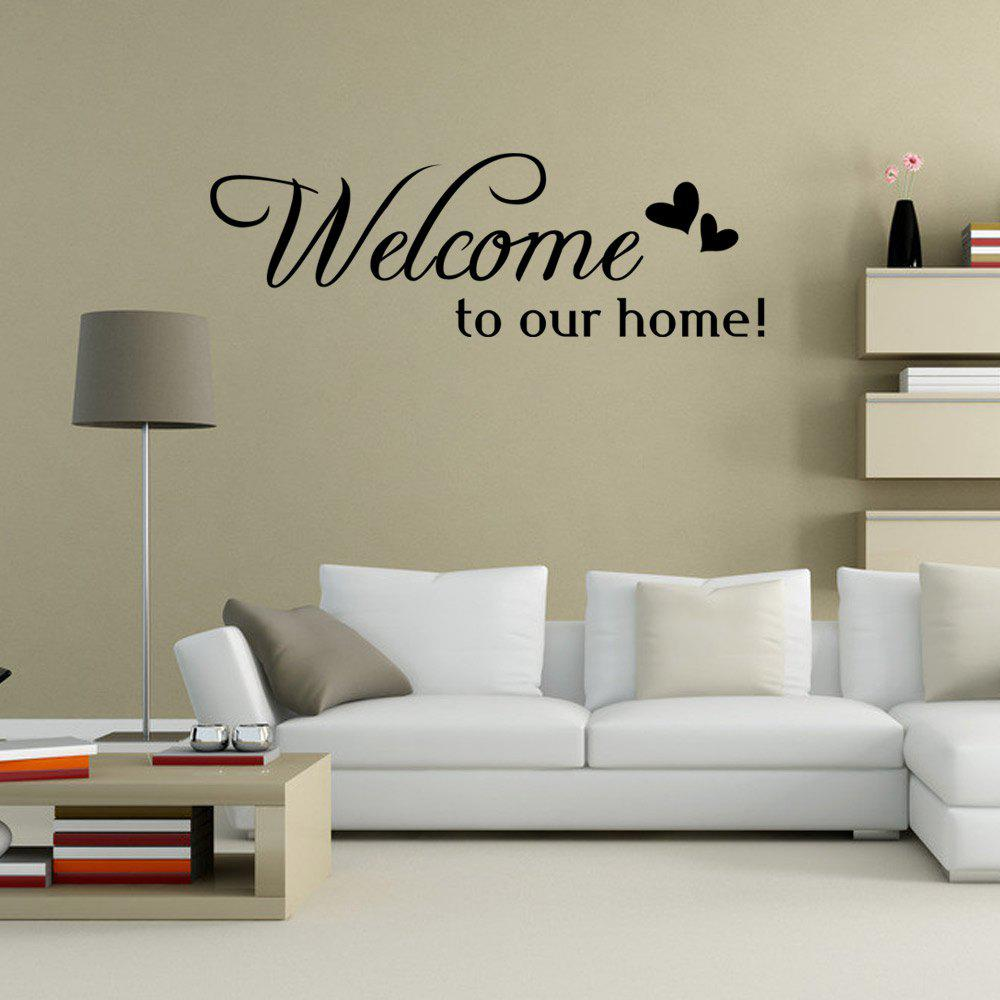DSU Welcom To Our Home DIY Home Decoration Wall Decal плед сruise welcom
