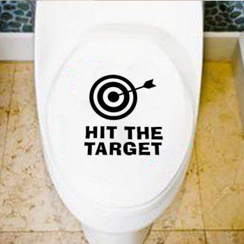 Hit the Target Quote Toilet Sticker Shooting Washroom Decals - BLACK 11 X 12 CM