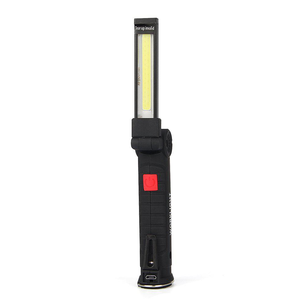 UltraFire W-51 COB 180-Degree Rotating 5-Position USB Magnetism Work Light - BLACK