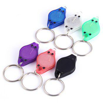 Mini LED Flash Light Keychain Ring Torch Super Bright Colorful Light -  RED