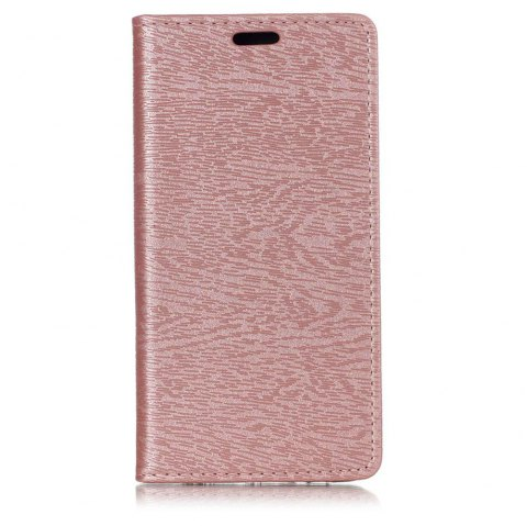 Textured Lines Pattern Flip PU Leather Wallet Case for Samsung Galaxy A8 2018 - ROSE GOLD