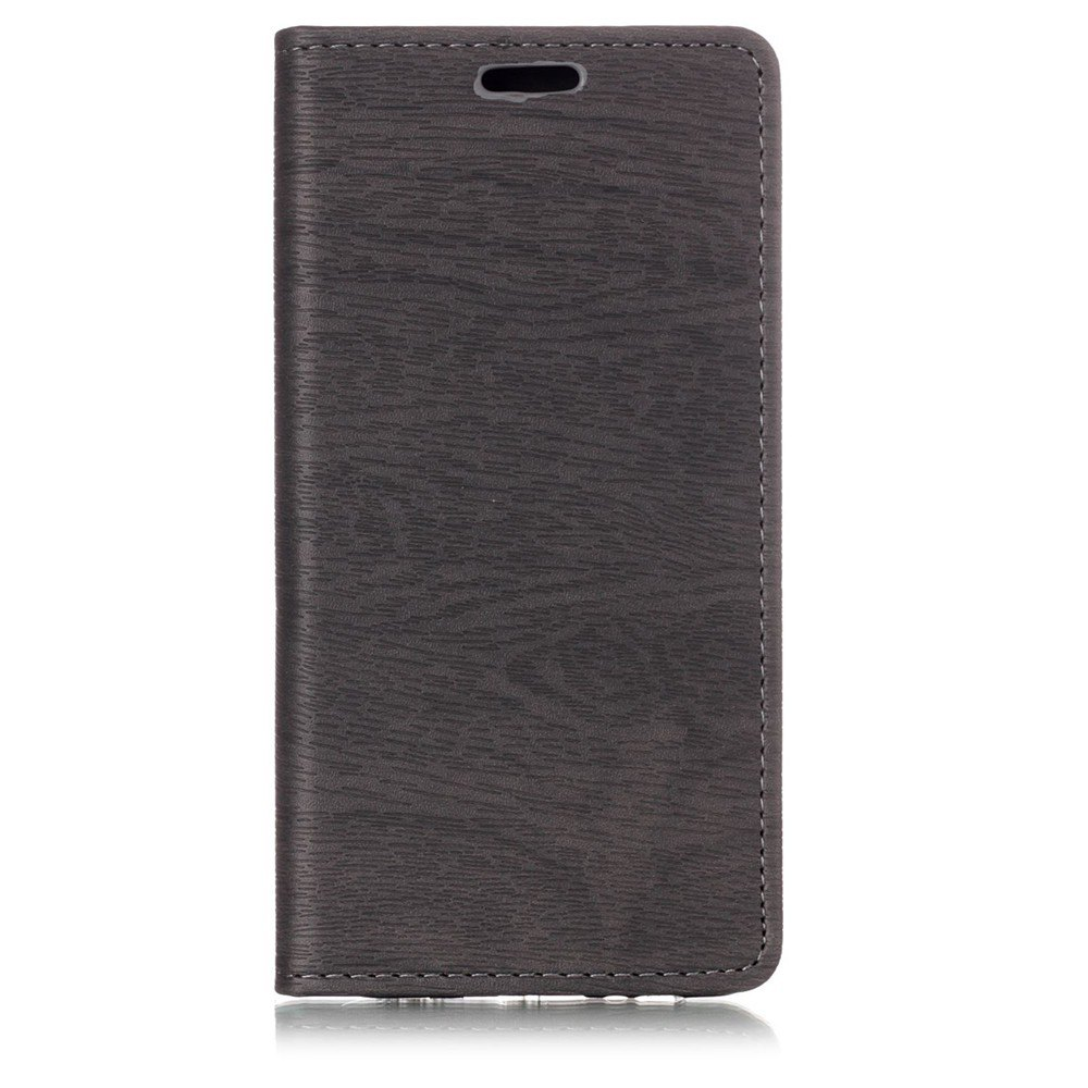 Textured Lines Pattern Flip PU Leather Wallet Case for Samsung Galaxy A8 2018 - GRAY