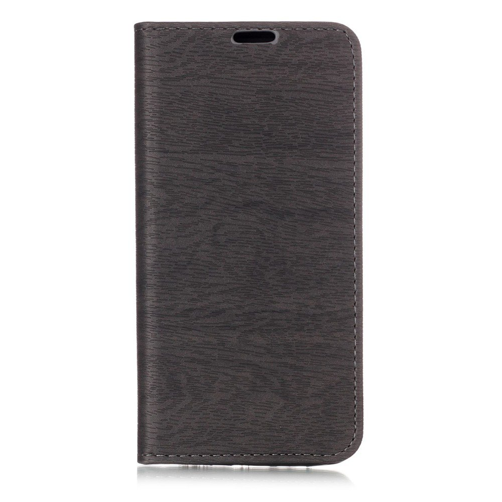 Textured Lines Pattern Flip PU Leather Wallet Case for Samsung Galaxy A8+ 2018 - GRAY