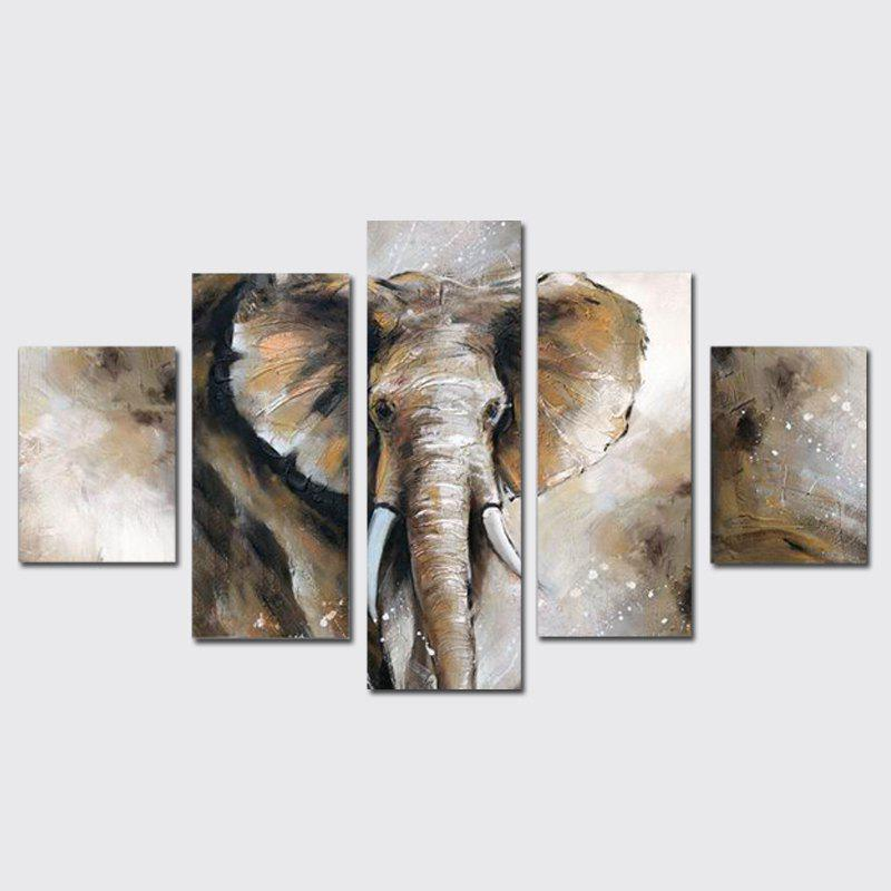 QiaoJiaHuaYuan Frameless Canvas Painting Animal Elephant Living Room Decorative Print 5PCS s 350 24 350w 24v non waterproof aluminium switching power supply cooling fan