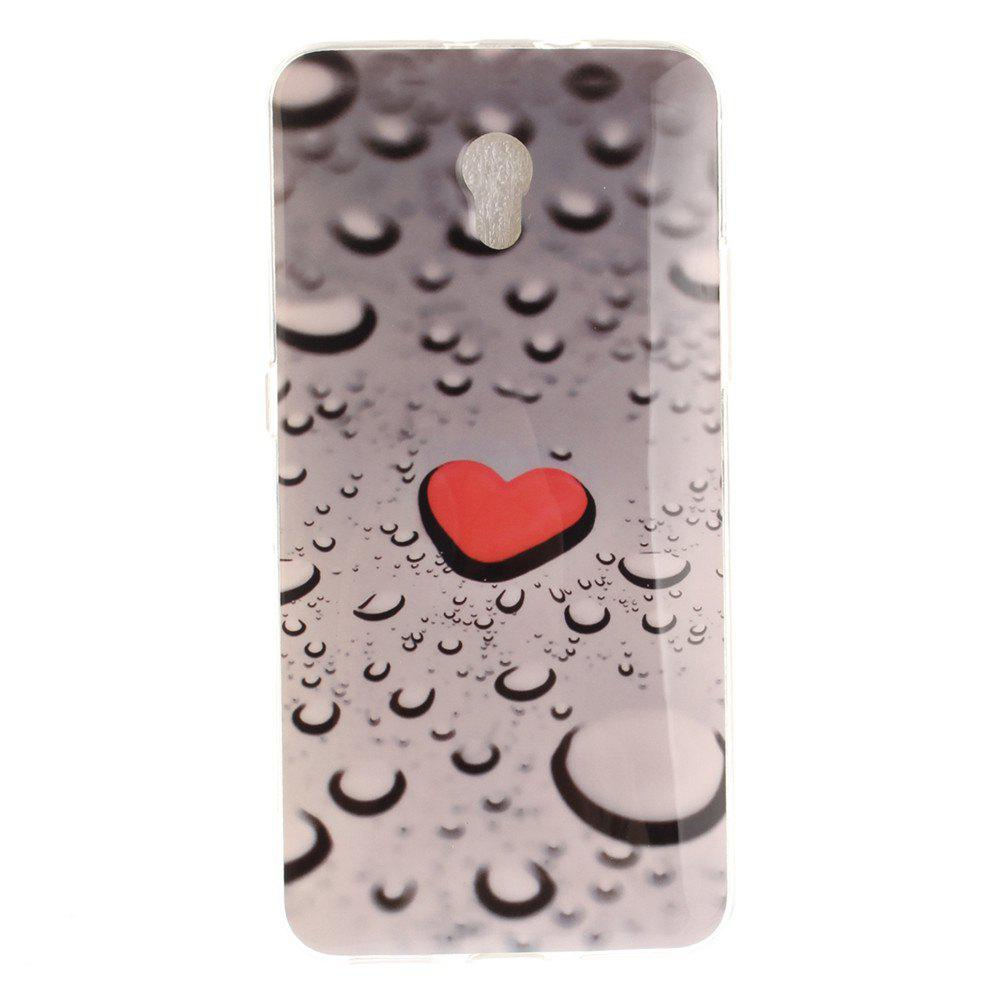 Water Droplets Love Soft Clear IMD TPU Phone Casing Mobile Smartphone Cover Shell Case for ZTE Blade V7 - COLORMIX