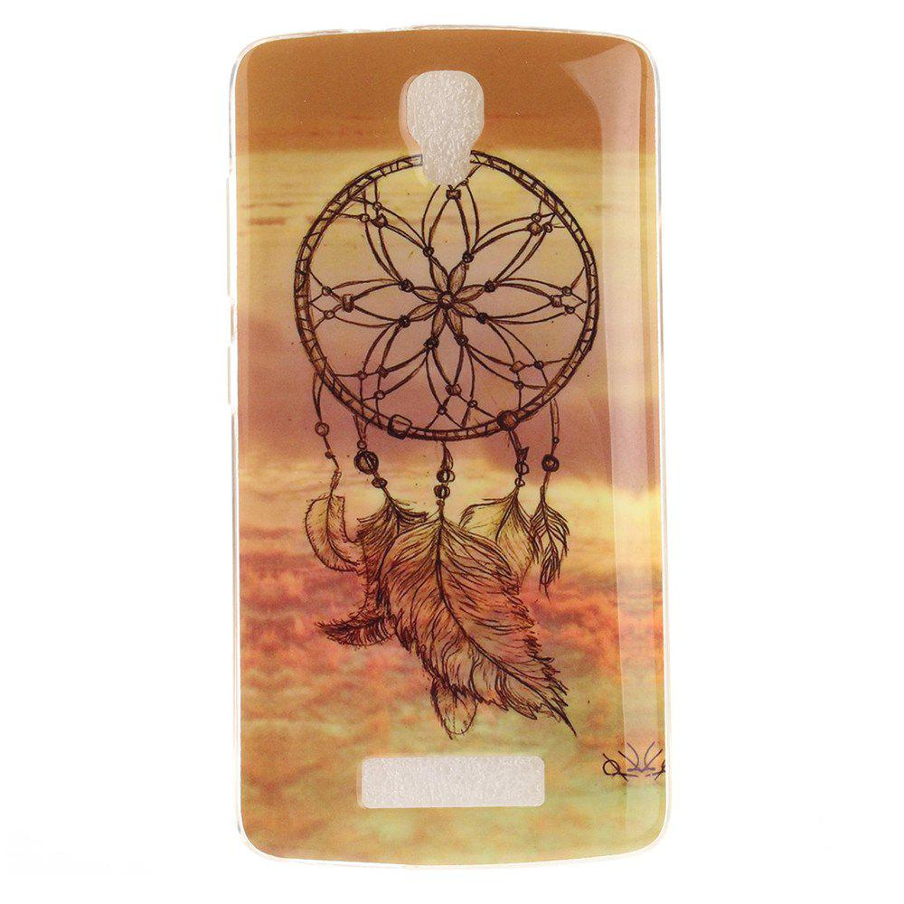 Windbell Pattern Soft Clear IMD TPU Phone Casing Mobile Smartphone Cover Shell Case for ZTE Blade L5 Plus - BROWN
