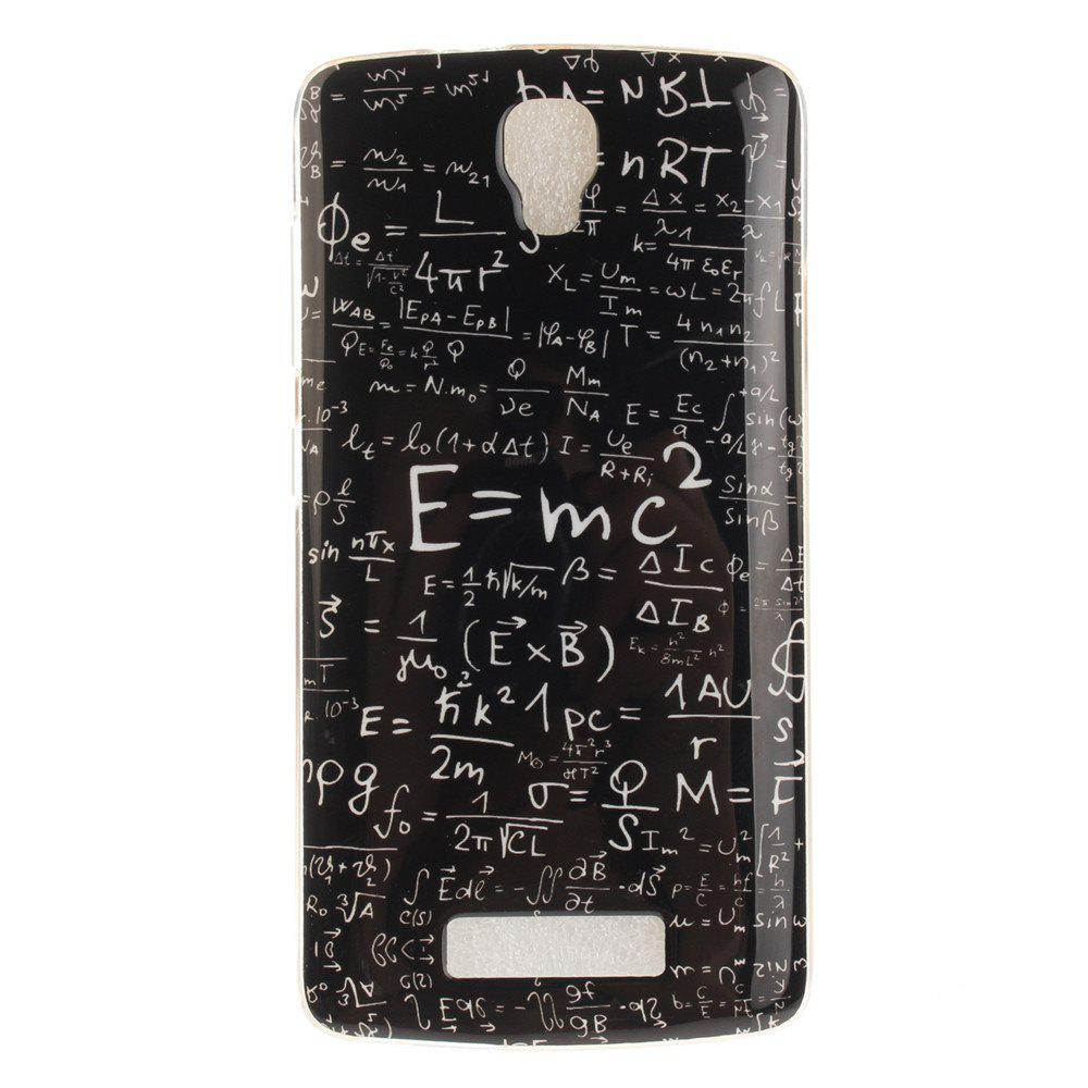 Mathematical Formula Soft Clear IMD TPU Phone Casing Mobile Smartphone Cover Shell Case for ZTE Blade L5 Plus - BLACK