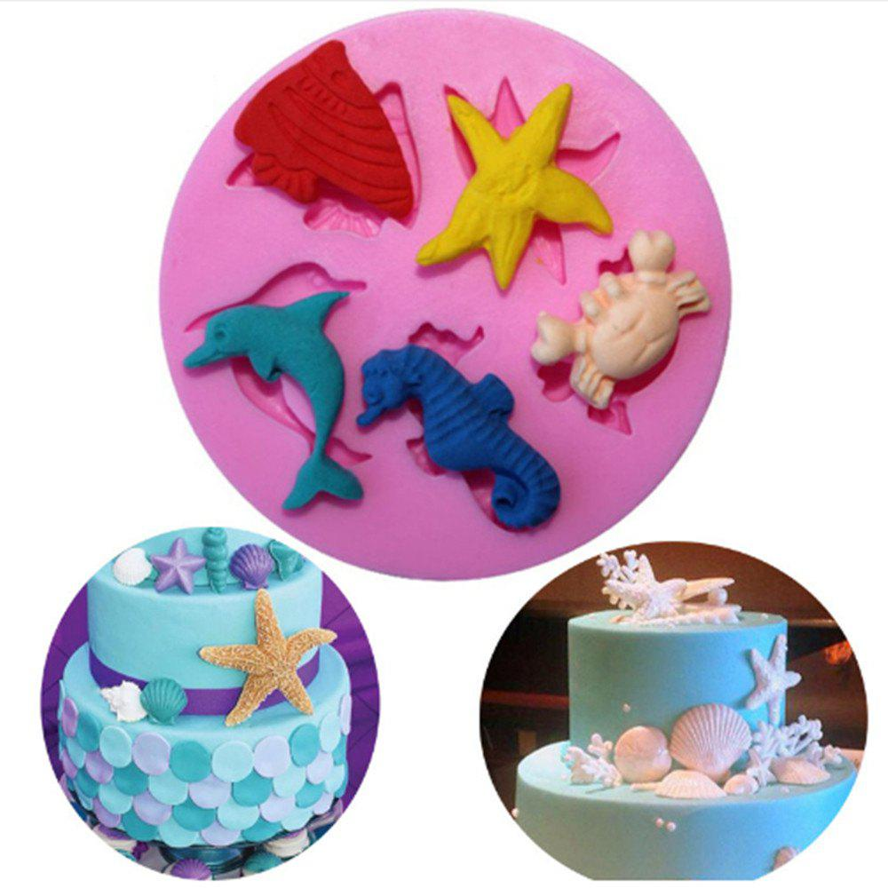 WS 0025 DIY Marine Biological Candy Silicon Gum Mold - PINK