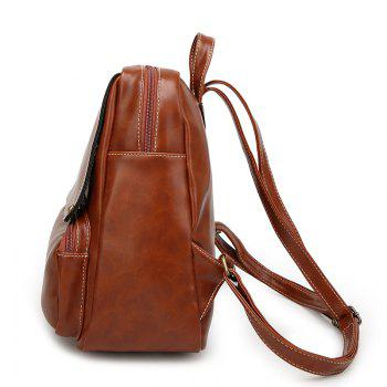Double Shoulder Female Edition School Backpack - BROWN C STYLE