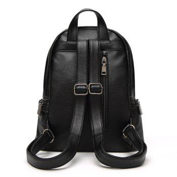 Korean Institute Wind Figures All-match College Students Personality Shoulder Backpack - BLACK