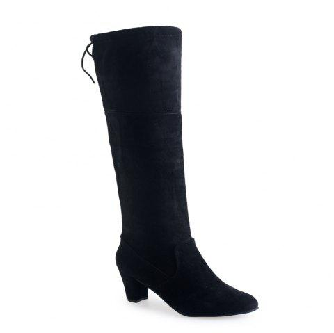 Thigh-high Heels With Women's Boots - BLACK 34