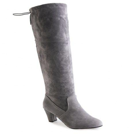 Thigh-high Heels With Women's Boots - GRAY 39