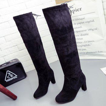 Thigh-high Heels With Women's Boots - BLACK 37