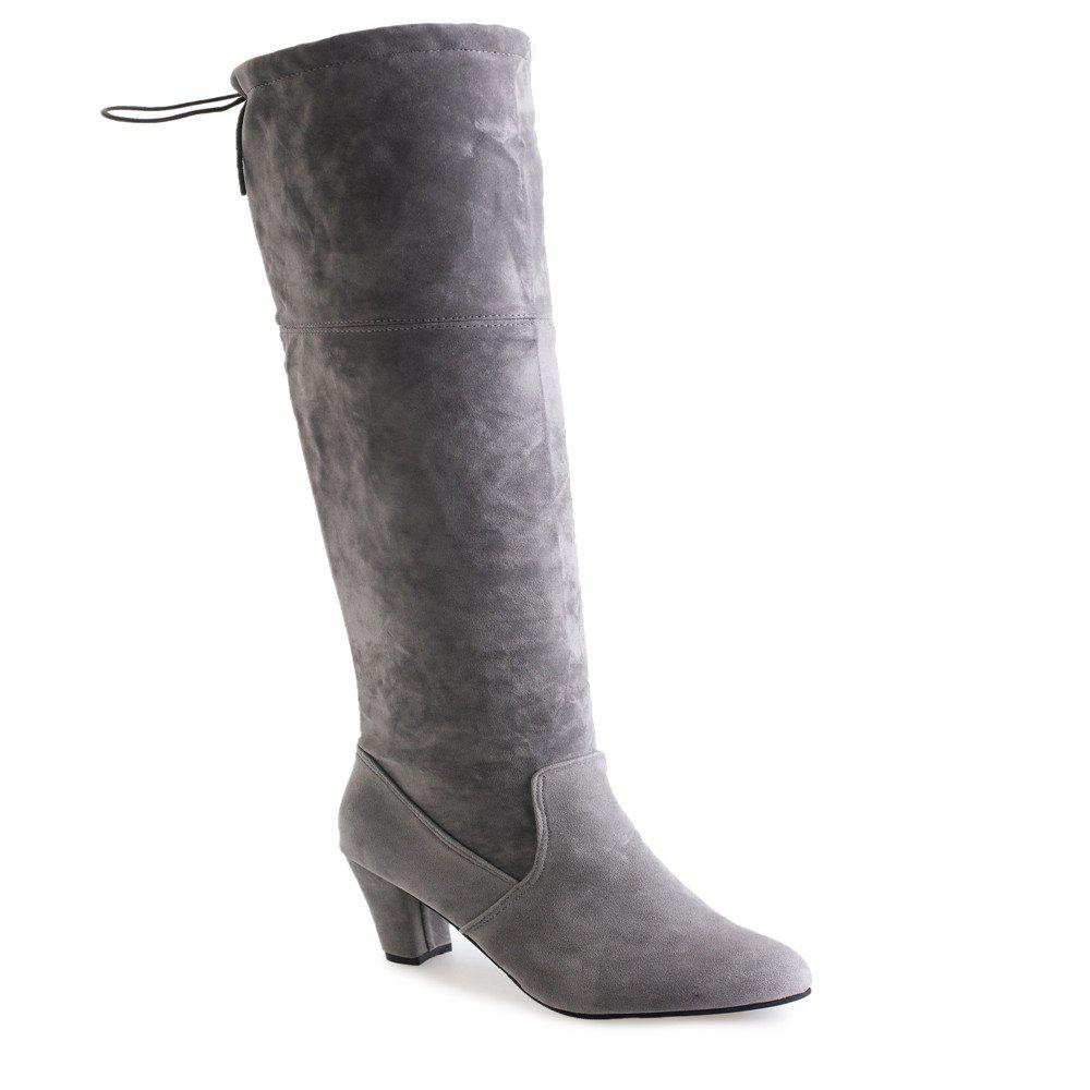 Thigh-high Heels With Women's Boots - GRAY 36