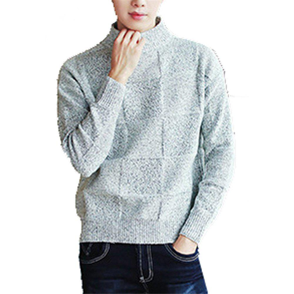 Men's Pullover Comfy Solid Color Chic Casual All Match Knitwear woman s fashionable all match blended fabric knitwear blazer black white