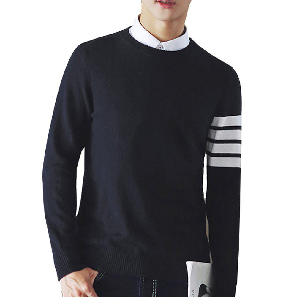 Men's Pullover Comfy Striped Casual All Match Chic Knitwear casual striped comfy knitted blouse