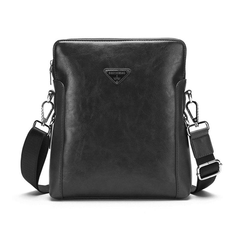 The New Single Shoulder Business Men's Bags Vertical Briefcase Fashion  Oblique Cross Bag 8917 - BLACK 26CM29CM6CM