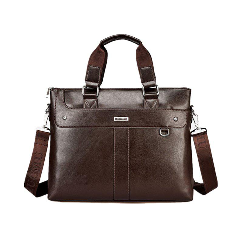 Male Briefcase Bag Handbag Business Cross Single Shoulder Bag  006 - BROWN 37CM29CM6.5CM