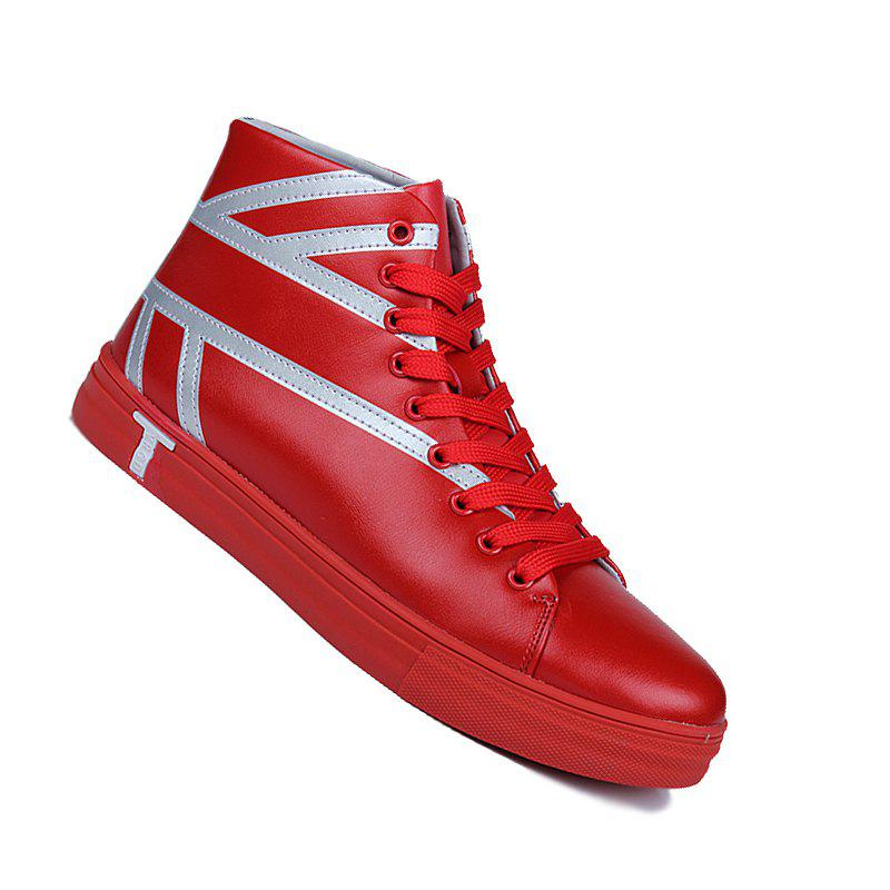 classic cheap online Men Casual Trend of Fashion Winter Rubber Outdoor Ankle Walking Leather Boots - Red 43 low cost cheap online original sale online YXUAhC