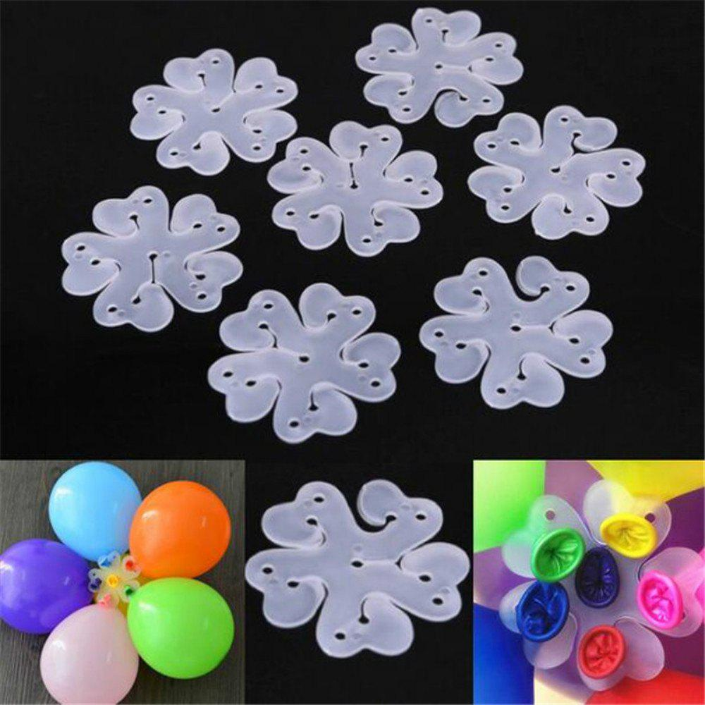 10PCS 6.5CM Useful Flower Shape Balloons Sealing Clip Ballon Buttons Clips Wedding/Birthday/Christmas Party Decoration S 100pcs lot 10inch1 2g globos latex balloon helium wedding party baloons birthday balls classic toy christmas gift ballon mariage