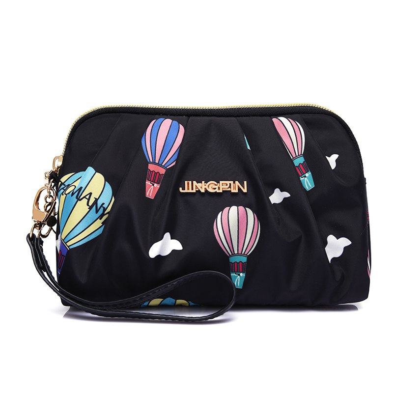 Fashion Hand Arm in Nylon Fabric Bag Printing Balloon Bag - BLACK