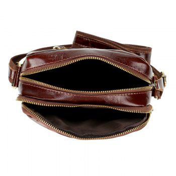 Genuine Leather Messenger Bags Men Travel Business flap Shoulder Crossbody Bags Male leather bags -  BROWNIE
