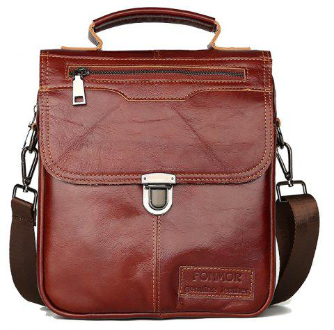 Brand Men's Handbags Vintage Genuine Leather Shoulder Bags High Quality Briefcase For Men Business Tote ipad New Crossbo - BROWN
