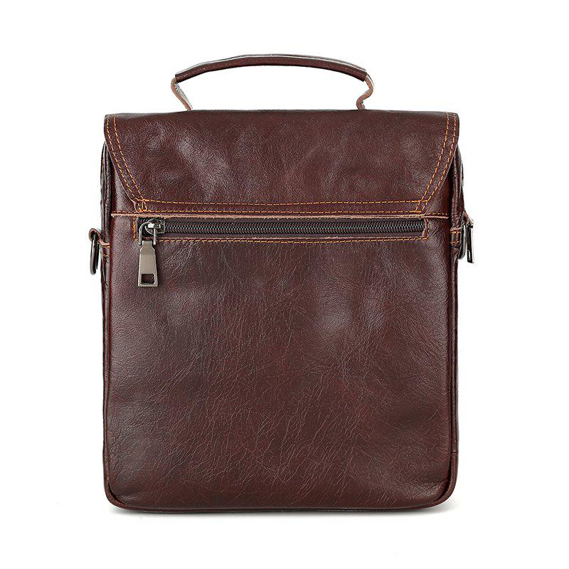 Brand Men's Handbags Vintage Genuine Leather Shoulder Bags High Quality Briefcase For Men Business Tote ipad New Crossbo - TAN