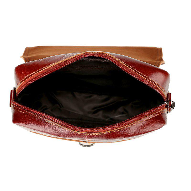Brand Men's Handbags Vintage Genuine Leather Shoulder Bags High Quality Briefcase For Men Business Tote ipad New Crossbo - BROWNIE