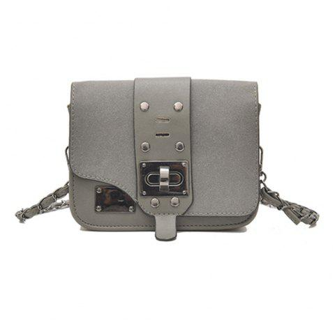 New Chain Messenger Bag Matte Small Square Package - GRAY