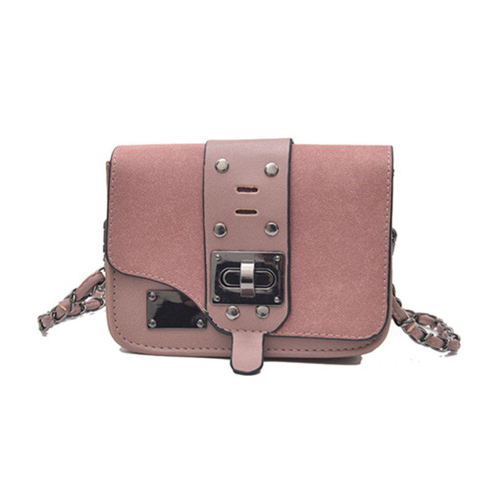 New Chain Messenger Bag Matte Small Square Package - PINK