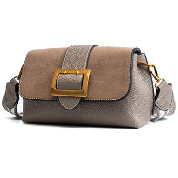 Wide Straps Small Bag 2018 Female Fashion Buckle Small Bag All-Match Shoulder Messenger Bag - GRAY