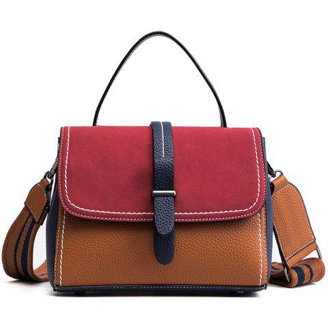 Wide Straps Satchel 2018 Female New Autumn and Winter All-Match Bangalor Nubuck Leather Handbag Fashion Tide - RED