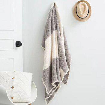 The New Super Soft and Delicate Half - Edge Velvet Casual Blanket - GRAY GRAY