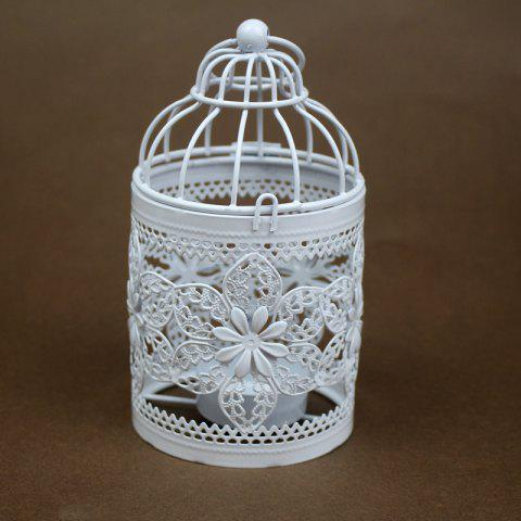 Zakka Creux Bougeoirs Cage Bougeoirs Ou Fer Forgé Chandelier - WHITE 35