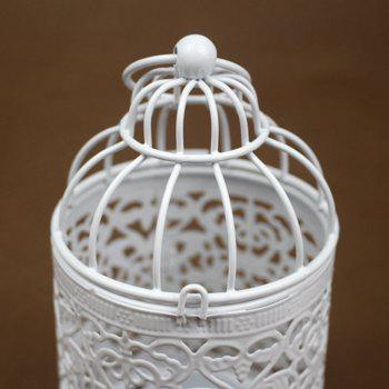 Zakka Creux Bougeoirs Cage Bougeoirs Ou Fer Forgé Chandelier - Blanc