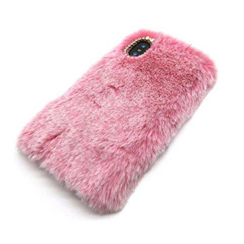 Rabbit Bunny Warm Furry Fur TPU Case for iPhone X - PINK