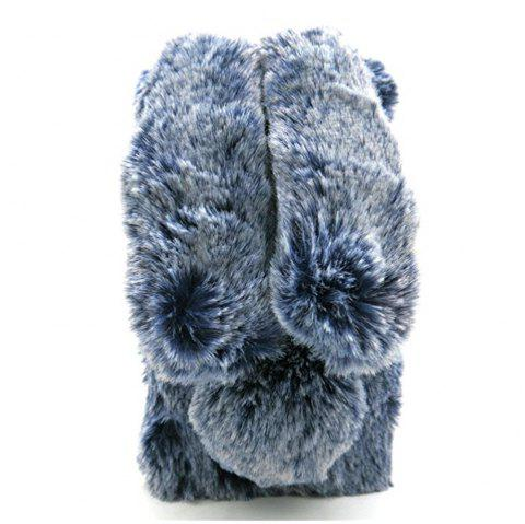 Rabbit Bunny Warm Furry Fur TPU Cover Case for iPhone X - BLUE