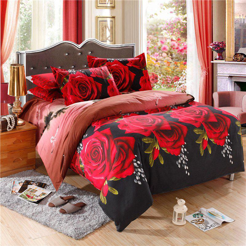 Фото Wholesale Twin Queen King Duvet Cover 3D Bed Linens Comforter Cover Bedding Set 4Pcs 100 percent Polyester