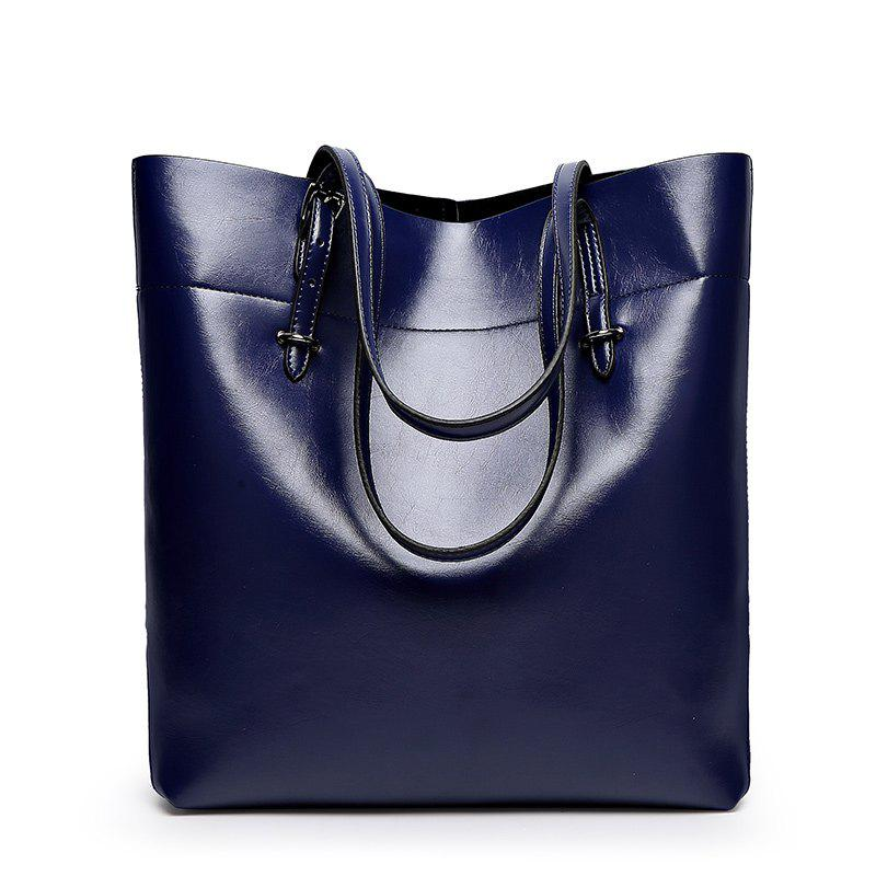 Ladies Classic Wild European Shoulder Bag - BLUE
