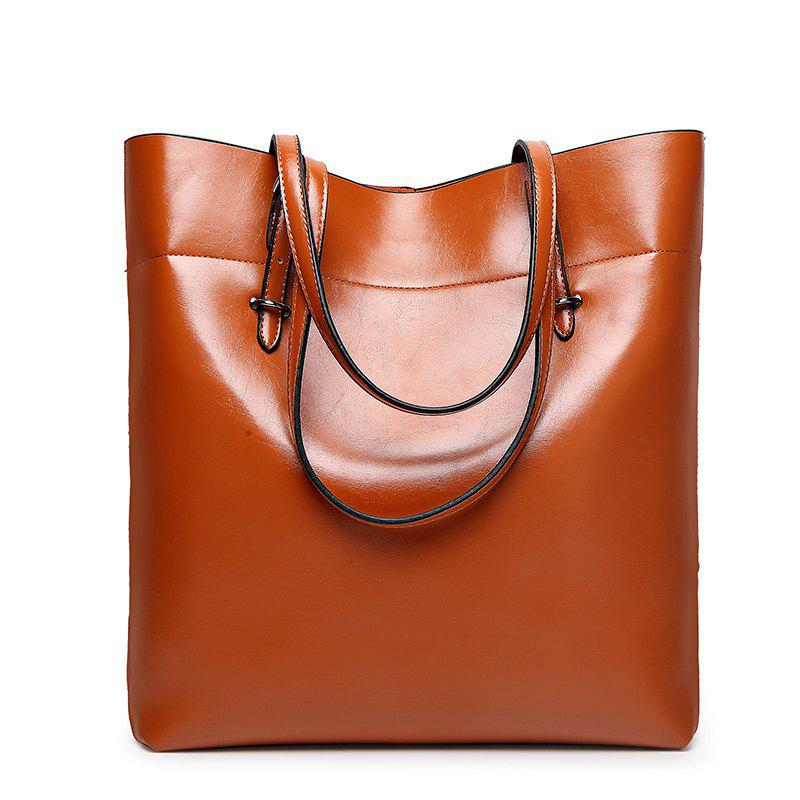 Ladies Classic Wild European Shoulder Bag - BROWN