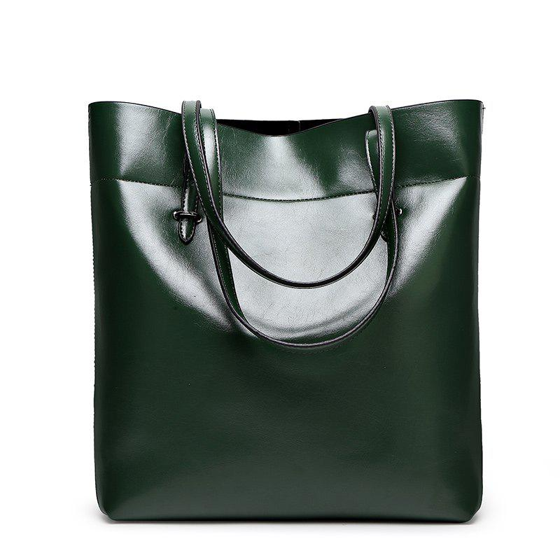 Ladies Classic Wild European Shoulder Bag - DARK GREEN