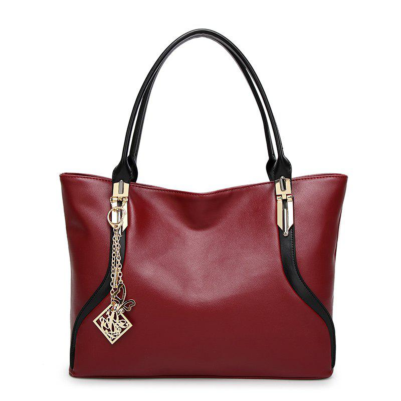 Ladies Simple Tassel Butterfly Tassel Butterfly Shoulder Bag - RED