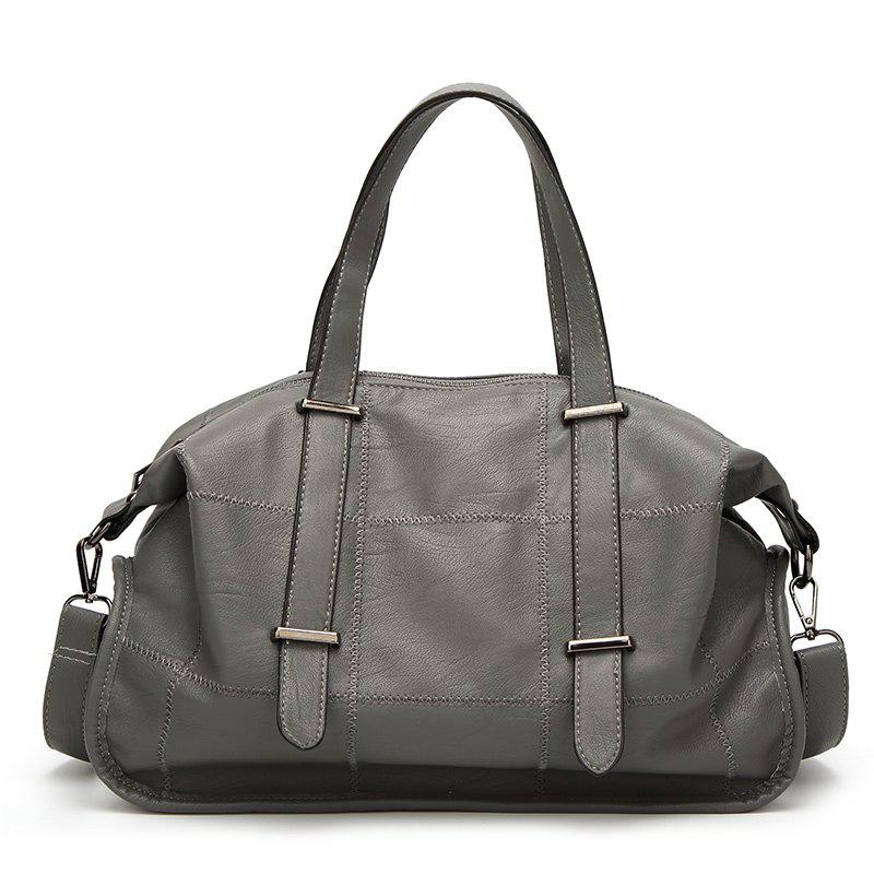 Ladies Classic Wild Soft Handbag - GRAY